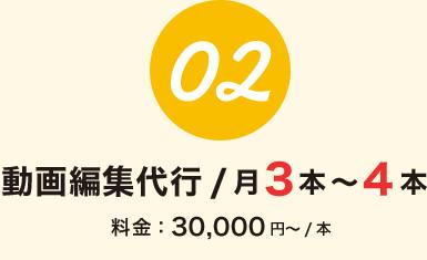 動画編集代行 / 月3本~4本