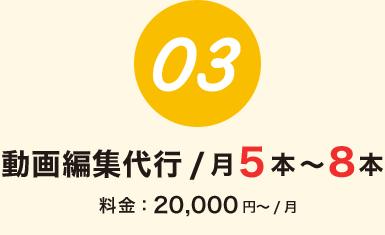 動画編集代行 / 月5本~8本