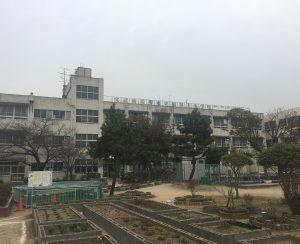 堺市立福泉上小学校 屋上パネル看板